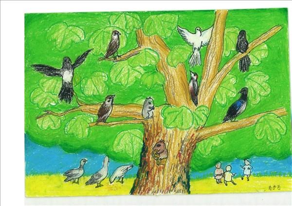 一等奖有关动物绘画作品