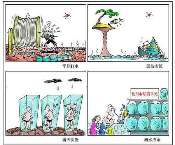 關于節約用水的畫圖片 節約用水的兒童畫圖片 節約